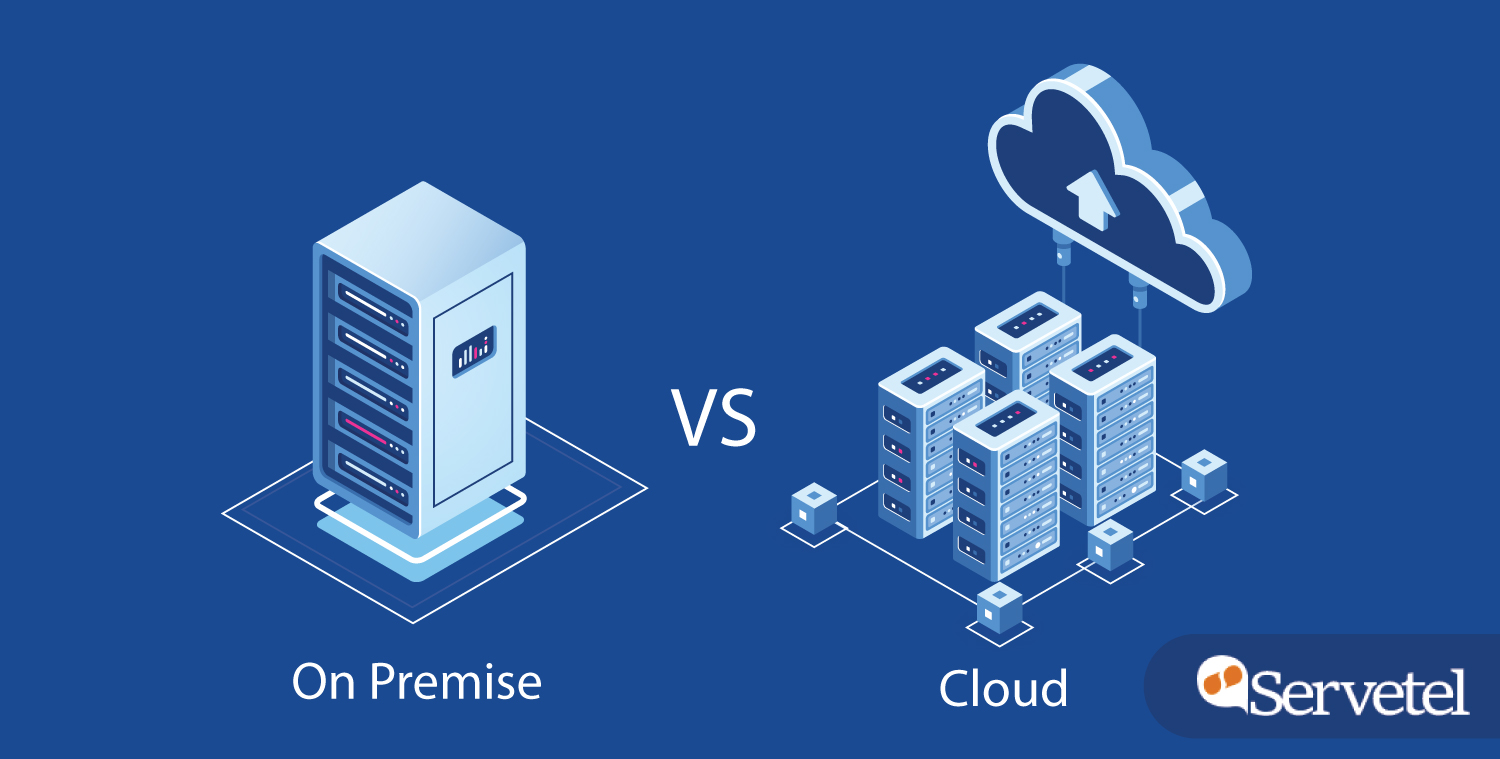 difference between on-premise and cloud telephony