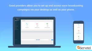 Servetel dashboard - live data call
