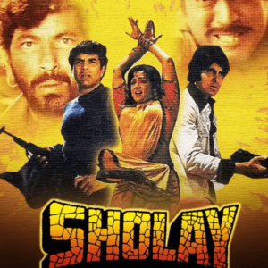 Sholay (1975), movie poster